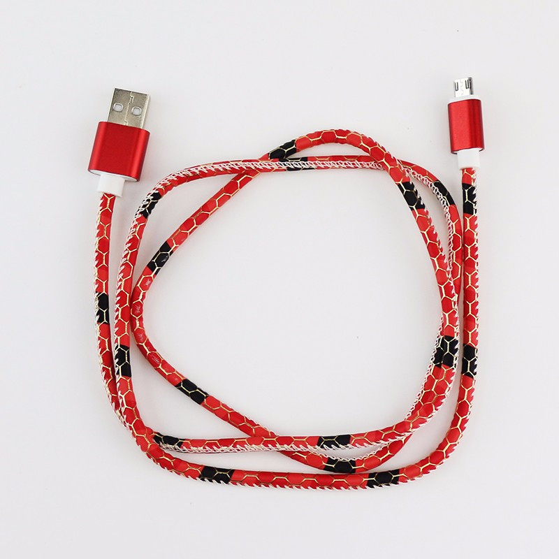 ShunXinda -Colorful Leather Pattern 1m Micro Usb Cable For Android | Shunxinda-6
