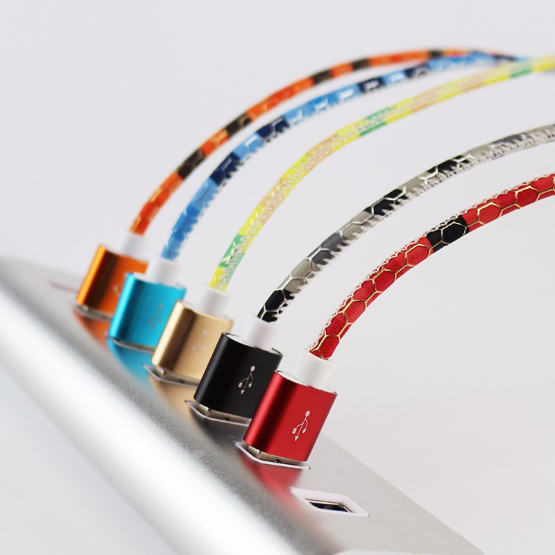 ShunXinda -Colorful Leather Pattern 1m Micro Usb Cable For Android | Shunxinda-10