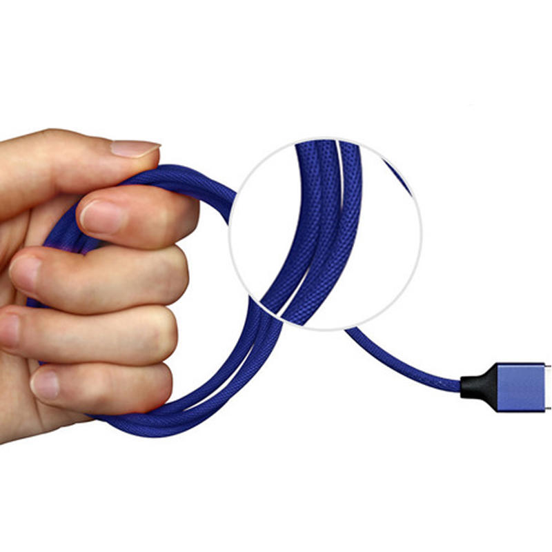 Jean braided micro usb fast charging and data transfer usb cable. SXD114-1