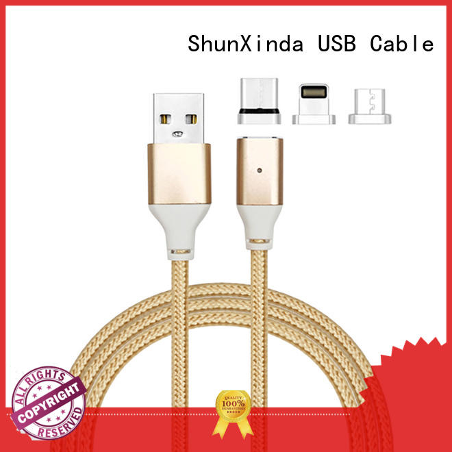 ShunXinda sided charging cable wholesale for indoor