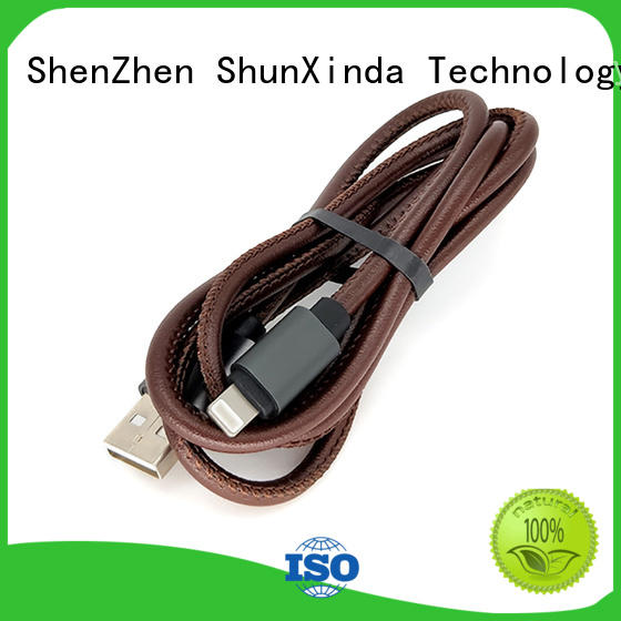 ShunXinda usb data iphone cord factory for car