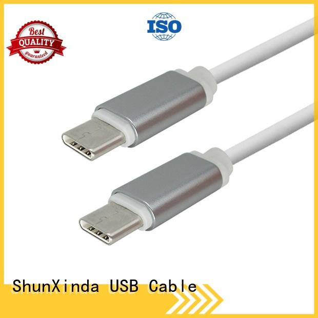flat charging super ShunXinda Brand type C to type C supplier