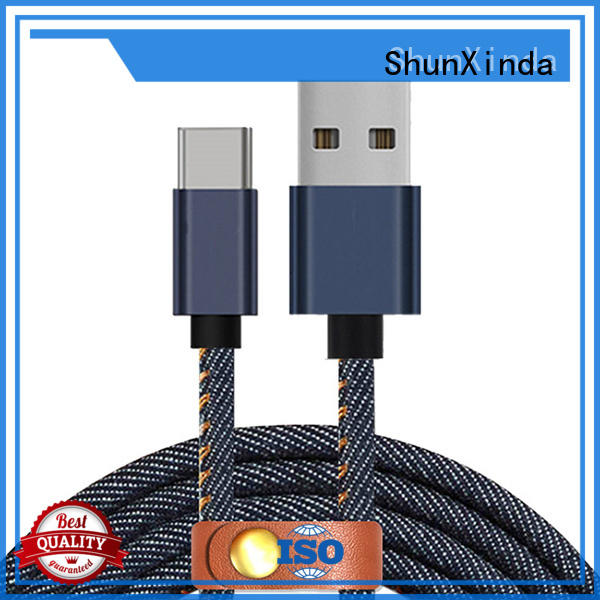 type c usb cable colorful phone type C to type C ShunXinda Brand