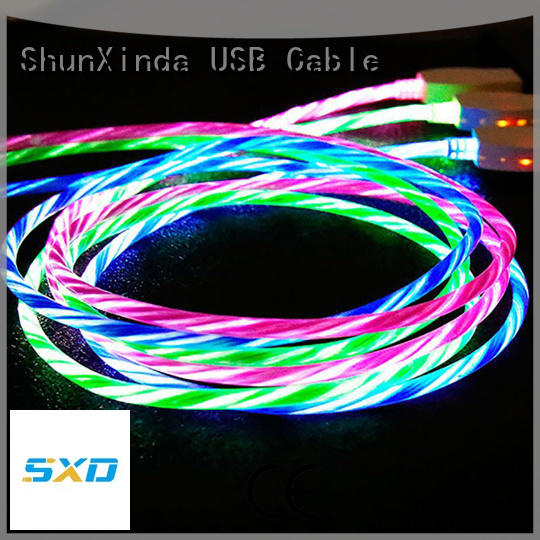 ShunXinda braided iphone charger cord for sale for car