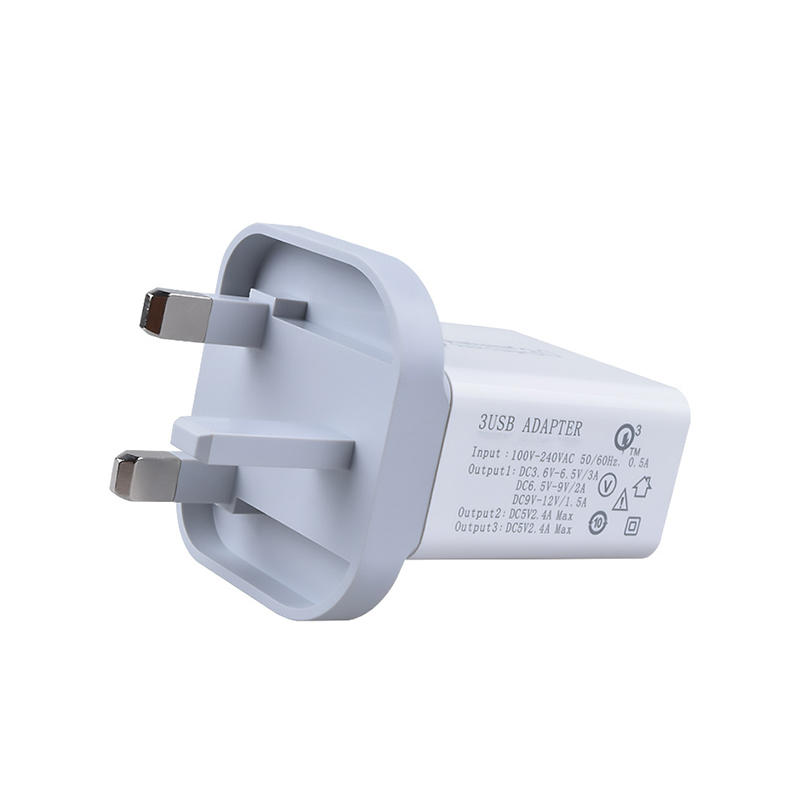Universal US EU UK AU QC 3.0 wall charger 3 usb travel adapter usb charger SXD081