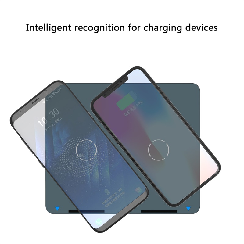 ShunXinda -Dual coils Qi wireless charger stand fast charger holder for iPhone 8 Samsung SXD301-1