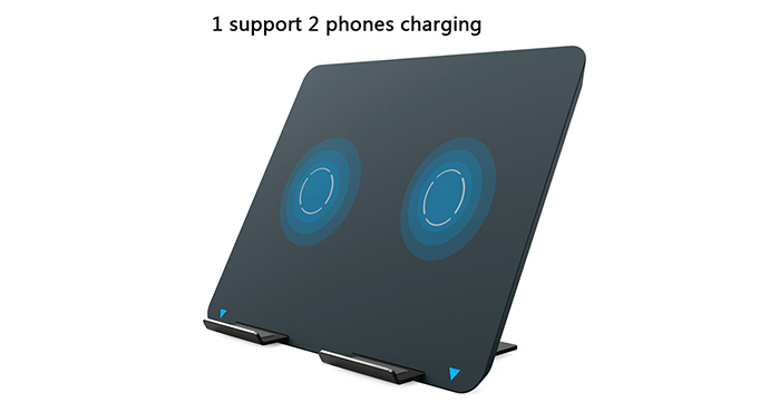 ShunXinda -Dual Coils Qi Wireless Charger Stand Fast Charger Holder For Iphone 8 Samsung