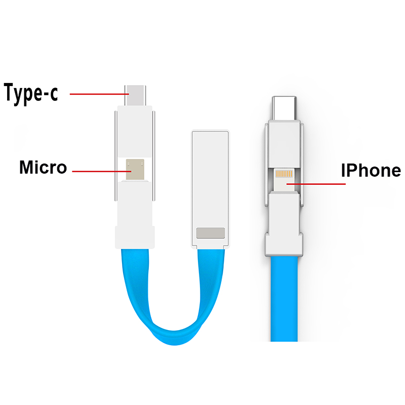 ShunXinda -Usb Cable With Multiple Ends Manufacture | Promotional Gift 3 In 1 Keychain-1