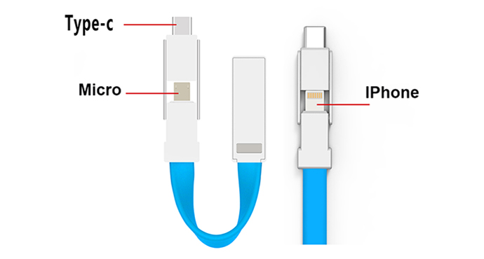 ShunXinda -Tiny designed 3 In 1 Usb Cable Keychain from Shunxinda Usb Cable-1