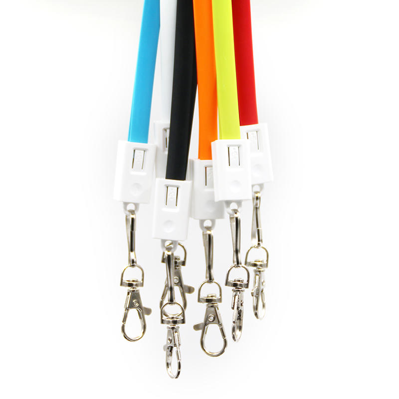 Multi functional Long lanyard usb charging and data 2 in 1 usb cable for Iphone and Samsung SXD145