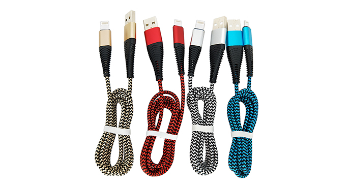 ShunXinda -New Design Aluminium Head 5v 2a Nylon Braided Fast Charging Usb Data Cable