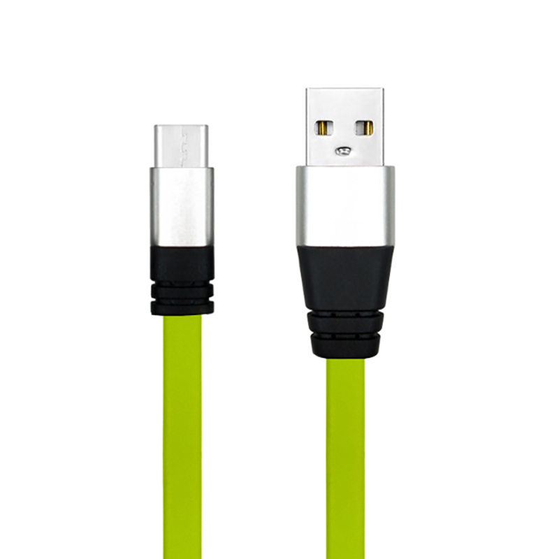 ShunXinda -Colorful Flat Tpe Usb A To Usb C Usb Data Cable 3 Feet 1 Meter For Mobile-4