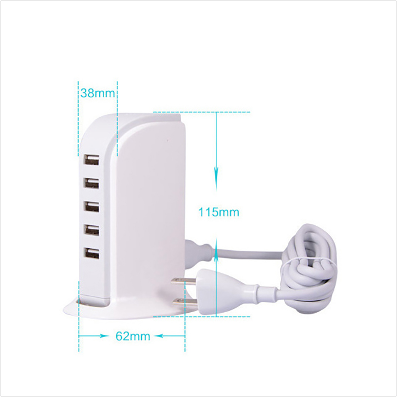 ShunXinda -Best Usb Outlet Adapter Portable 5 Usb Ports Power Adapter 5v 6a Charger -4