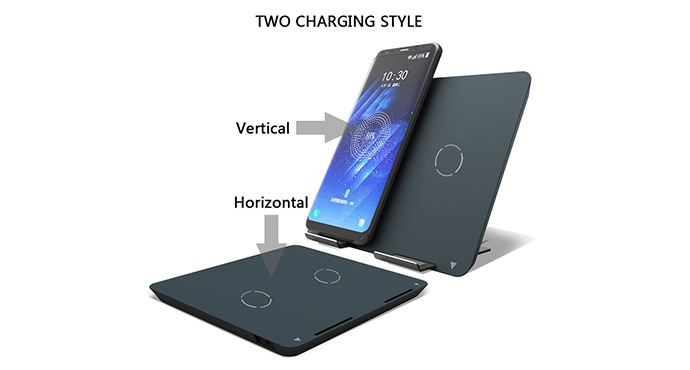 ShunXinda -High-quality Dual Coils Qi Wireless Charger Stand Fast Charger Holder For-1