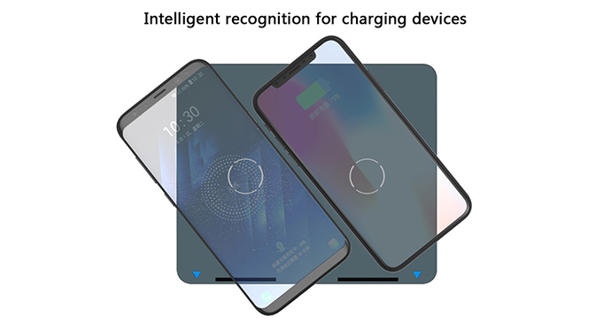 ShunXinda -Dual Coils Qi Wireless Charger Stand Fast Charger Holder For Iphone 8 Samsung-2