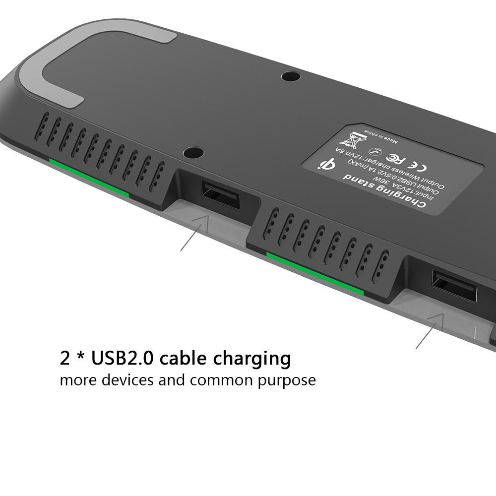 ShunXinda -Oem Odm Qi Wireless Charger 2 Usb Charge Fast Charge Wireless Charger Sxd302-5
