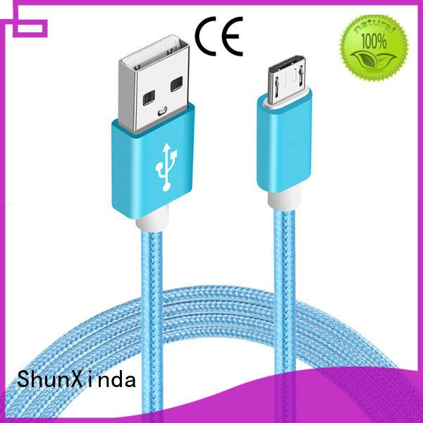 ShunXinda Brand fabric spring micro long micro usb cable design supplier