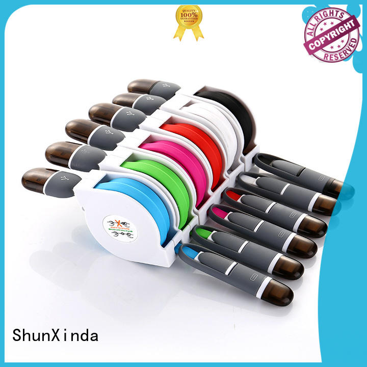 ShunXinda dual usb cable with multiple ends factory for car
