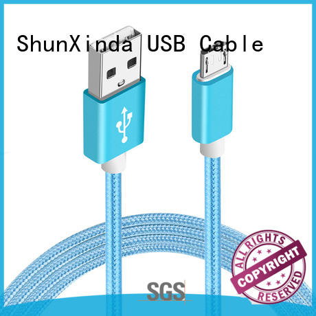 Durable nylon cable fabric braided charging cable