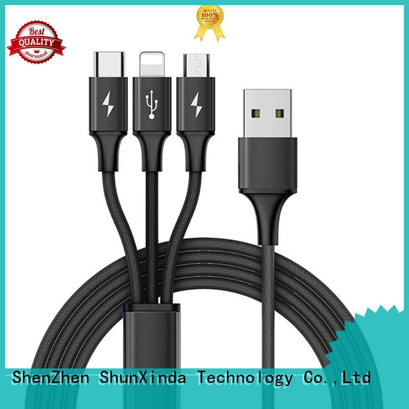 gift samsung retractable charging cable sync pu ShunXinda Brand