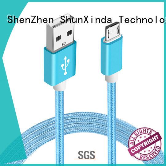 ShunXinda Brand mobile design long micro usb cable samsung