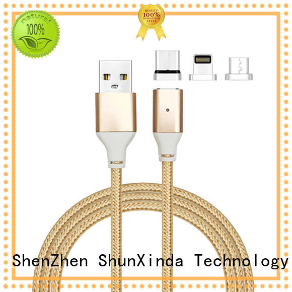 ShunXinda Brand iphone gift custom retractable charging cable