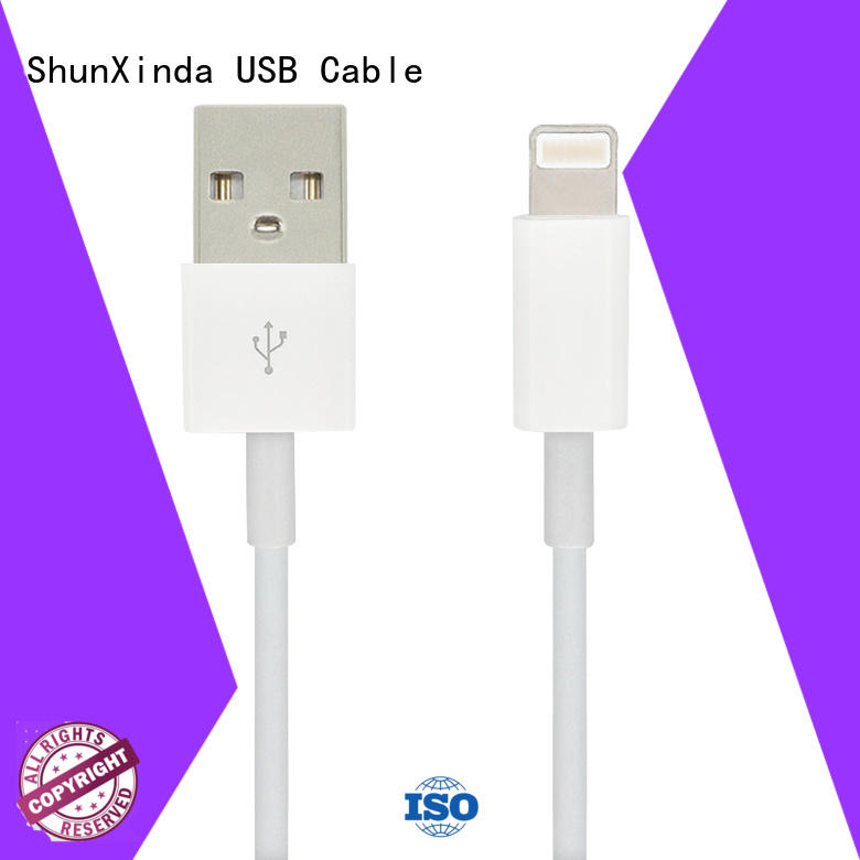 ShunXinda charger apple lightning to usb cable for sale for indoor