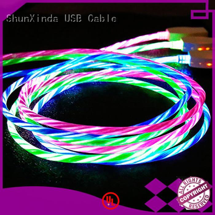 ShunXinda lightup apple lightning to usb cable for business for home