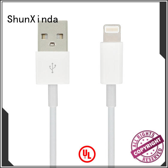 ShunXinda head lightning usb cable factory for indoor