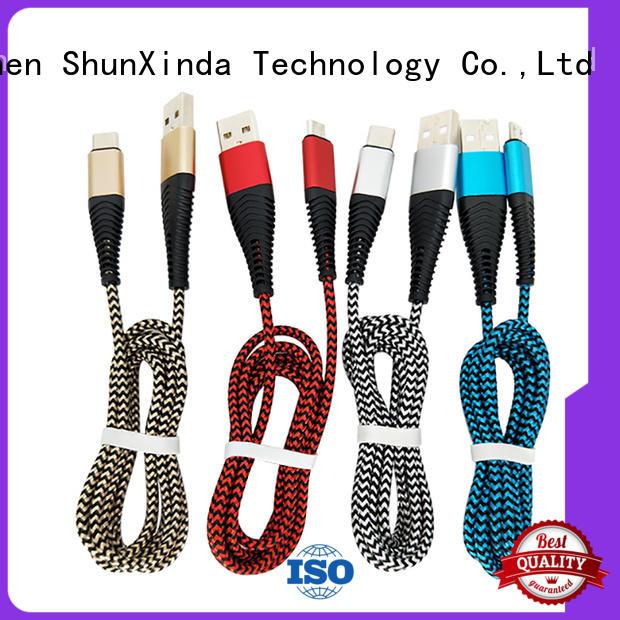 Hot necklace iphone usb cable oem metal ShunXinda Brand