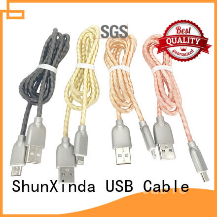 ShunXinda cable iphone charger cord manufacturers for car
