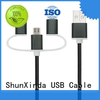 ShunXinda Brand promotional samsung custom retractable charging cable