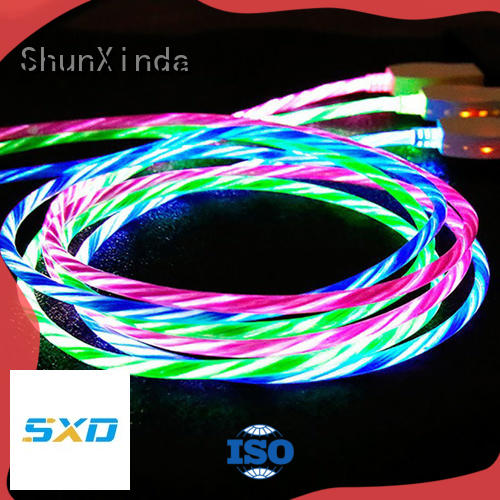 ShunXinda leather apple lightning to usb cable for business for home