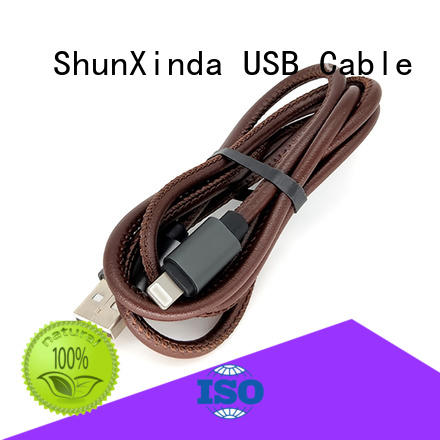 ShunXinda Brand arrival iphone braided custom iphone usb cable oem
