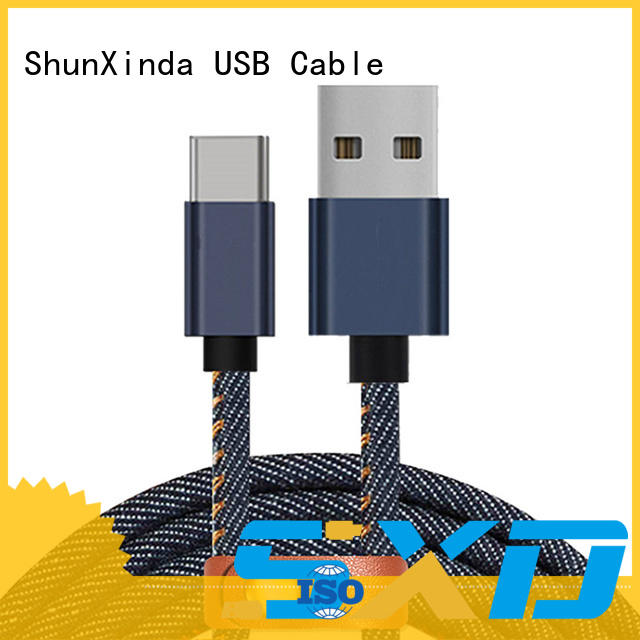 denim usb data cable Type C charger 1M 2.4A