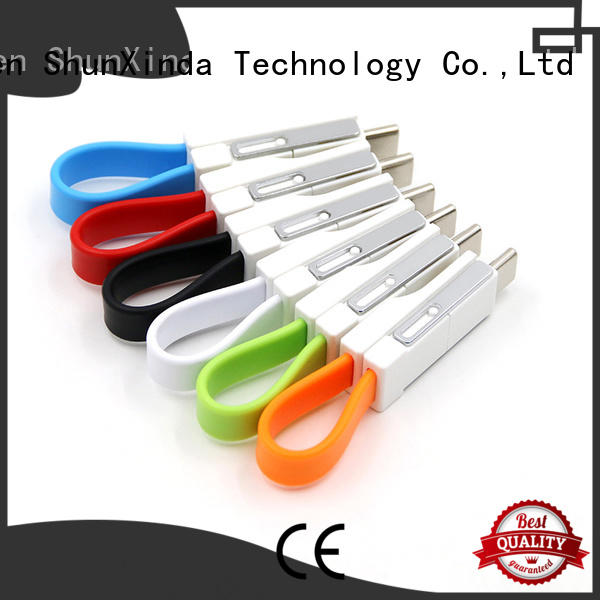 ShunXinda Brand pu phone multi charger cable manufacture
