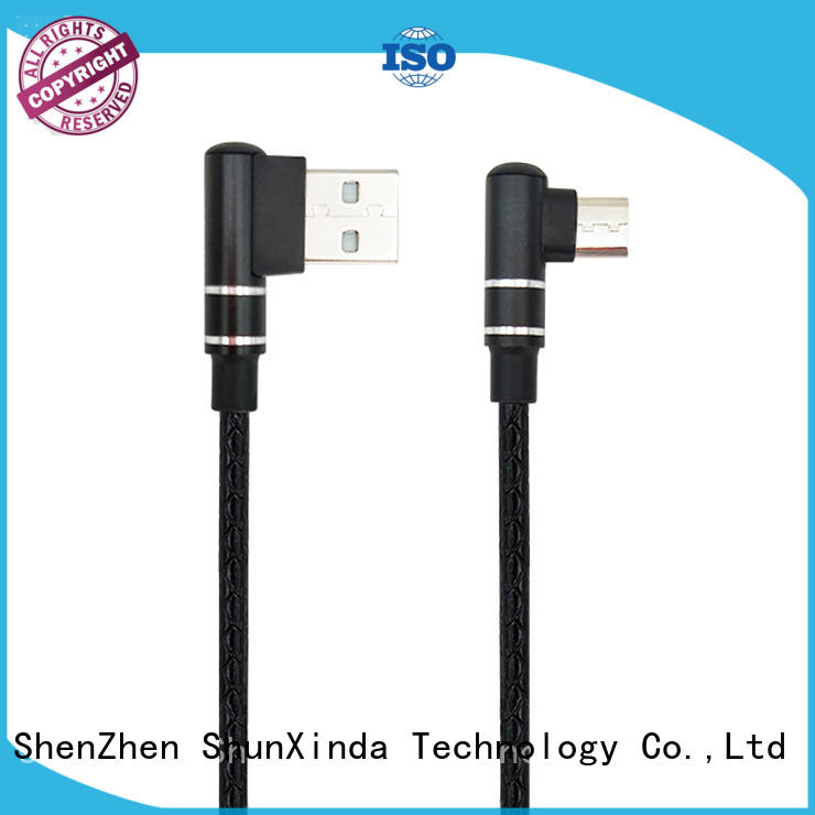 90 degree usb A to angle micro usb data cable quick charger 1M 3FT SXD138