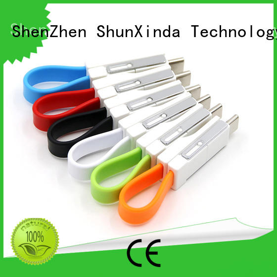 retractable nylon samsung ShunXinda Brand retractable charging cable manufacture