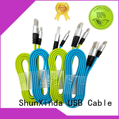 alloy shape tpe ShunXinda Brand type c usb cable manufacture