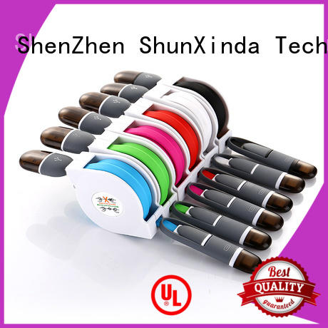 ShunXinda Brand gift charging data custom retractable charging cable