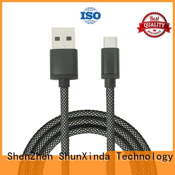 Hot angle long micro usb cable fast ShunXinda Brand