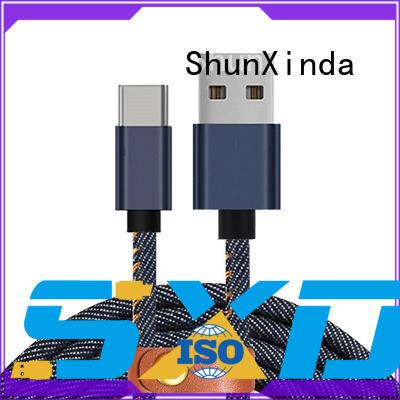 ShunXinda flat short usb c cable factory for indoor