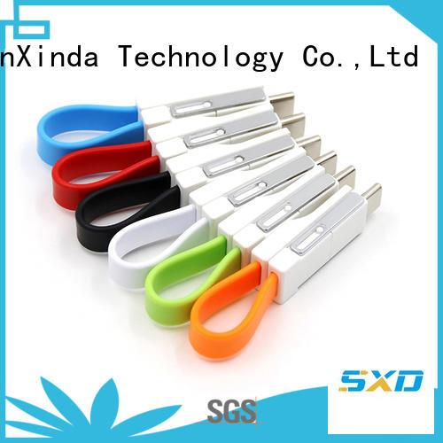 retractable charging cable keychain spring data ShunXinda Brand