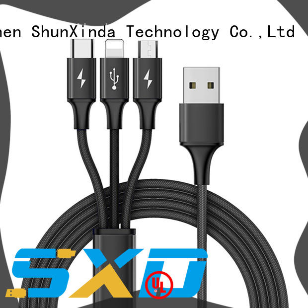 ShunXinda fast magnetic usb cable coiled for car
