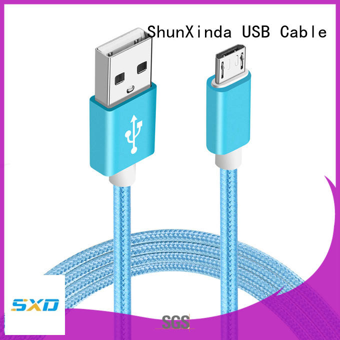 ShunXinda charging right angle micro usb cable manufacturer for home