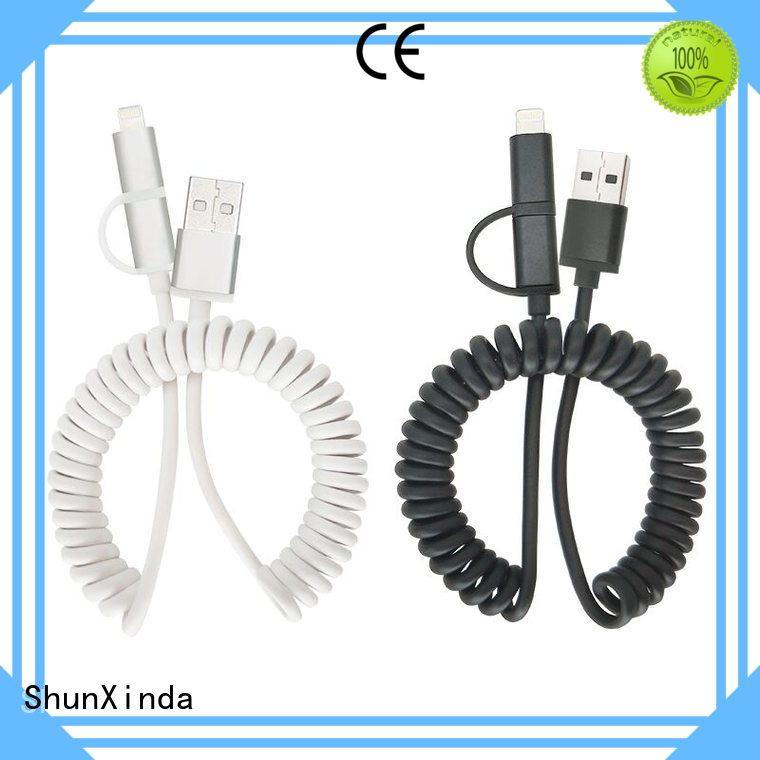 retractable charging cable promotional popular ShunXinda Brand multi charger cable
