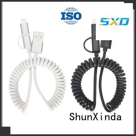 braided retractable charging cable retractable popular ShunXinda Brand