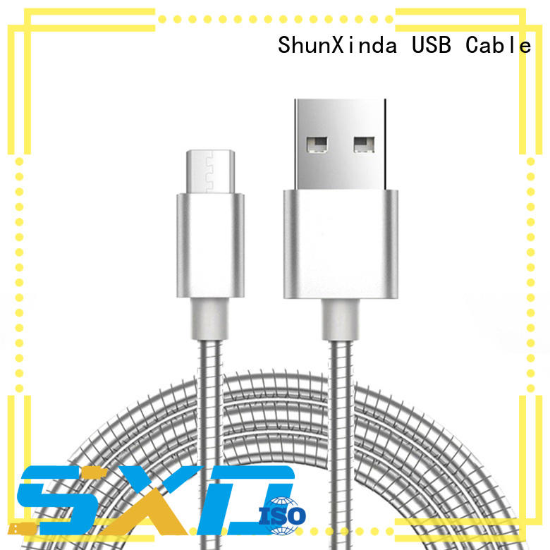ShunXinda charging cable micro usb leather station