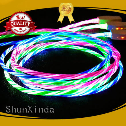 Custom phone nylon iphone cord ShunXinda flowing
