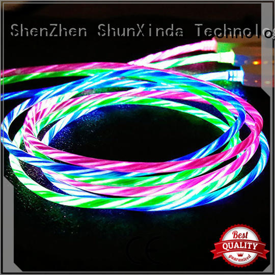 ShunXinda Brand braided leather cable for iphone usb cable oem